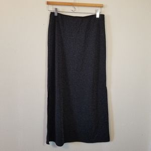 Vintage black shimmer side slit pencil skirt